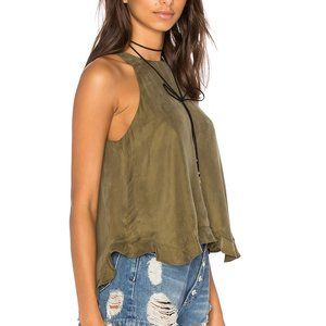 Line & Dot Musee Green Sleeveless Top Size XS